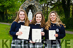 Pictured at the Presentation Secondary school, Tralee, graduation on Friday were Debbie O'Sullivan,Caitlyn Corcoran and Aishling Leen