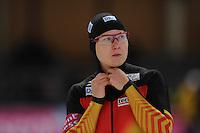 SCHAATSEN: BERLIJN: Sportforum, 06-12-2013, Essent ISU World Cup, 500m Ladies Division A, Jenny Wolf (GER), ©foto Martin de Jong