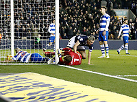 GOAL - Steve Morison of Millwall beats Alex Smithies of Queens Park Rangers during the Sky Bet Championship match between Millwall and Queens Park Rangers at The Den, London, England on 29 December 2017. Photo by Carlton Myrie / PRiME Media Images.