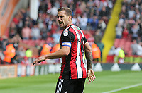 Sheffield United VS Barnsley FC EFL CHAMPIONSHIP <br /> Saturday 19th August 2017, Bramall Lane Sheffield<br /> <br /> BILLY SHARP OF SHEFFIELD UNITED PEELS AWAY IN CELEBRATION OF HIS GOAL IN THE 33RD MINUTE FOR SHEFFIELD UNITED <br /> <br /> <br /> Picture - Alex Roebuck / www.alexroebuck.co.uk