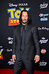 """LOS ANGELES, USA. June 12, 2019: Keanu Reeves at the world premiere of """"Toy Story 4"""" at the El Capitan Theatre.<br /> Picture: Paul Smith/Featureflash"""