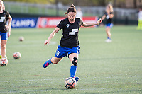 Boston, MA - Saturday April 29, 2017: Tiffany Weimer during warmups before a regular season National Women's Soccer League (NWSL) match between the Boston Breakers and Seattle Reign FC at Jordan Field.