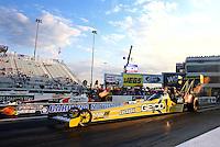 Sep 13, 2013; Charlotte, NC, USA; NHRA top fuel dragster driver Morgan Lucas during qualifying for the Carolina Nationals at zMax Dragway. Mandatory Credit: Mark J. Rebilas-