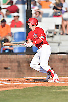 Johnson City Cardinals designated hitter Andrew Knizner (48) swings at a pitch during a game against the Elizabethton Twins at Howard Johnson Field at Cardinal Park on June 26, 2016 in Johnson City, Tennessee. The Twins defeated the Cardinals 13-12. (Tony Farlow/Four Seam Images)