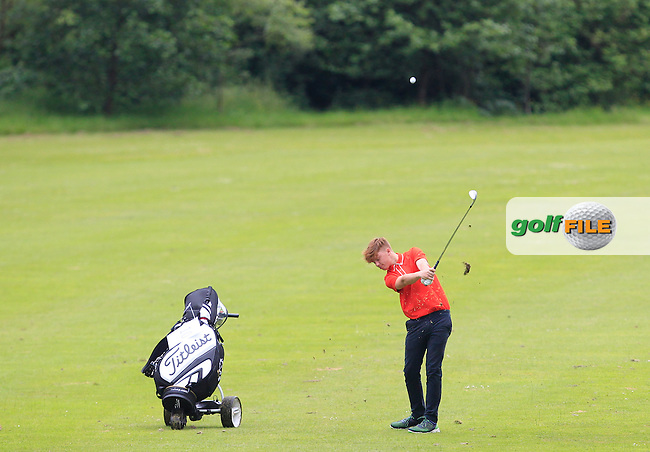 AJ McCabe (Malahide) on the 6th fairway during Round 2 of the Irish Boys Amateur Open Championship at Tuam Golf Club on Wednesday 24th June 2015.<br /> Picture:  Thos Caffrey / www.golffile.ie