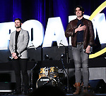 "Kyle Dean Massey and Bobby Conte Thornton from ""Company""  during the BroadwayCON 2020 First Look at the New York Hilton Midtown Hotel on January 24, 2020 in New York City."