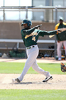 Myrio Richard, Oakland Athletics 2010 minor league spring training..Photo by:  Bill Mitchell/Four Seam Images.