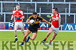 Michael Burns Dr Crokes takes on Colm Kelly Rathmore during their SFC clach in Fitzgerald Stadium on Sunday