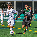 3 October 2015: University of Vermont Catamount Forward Jaime Miralles, a Sophomore from Vinaros, Spain, in action against the Binghamton University Bearcats at Virtue Field in Burlington, Vermont. The Catamounts were unable to complete a late game rally, falling to the Bearcats 2-1 in America East conference play. Mandatory Credit: Ed Wolfstein Photo *** RAW (NEF) Image File Available ***
