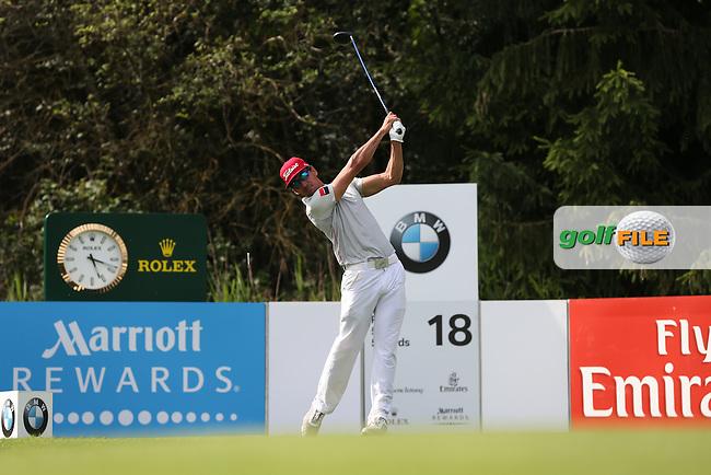 Rafa Cabrera-Bello (ESP) drives down the last during Round Three of the 2015 BMW International Open at Golfclub Munchen Eichenried, Eichenried, Munich, Germany. 27/06/2015. Picture David Lloyd   www.golffile.ie