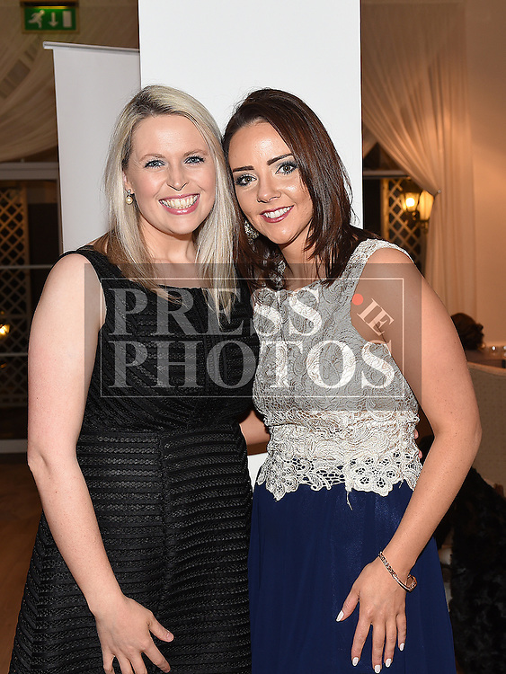 Carol Farrll and Jane Kelly pictured at the Ardee Traders annual awards night in the Nuremore Hotel. Photo:Colin Bell/pressphotos.ie