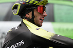 Adam Yates (GBR) Mitchelton-Scott at the end of another wet Stage 4 of the Tour of the Basque Country 2019 running 163.6km from Vitoria-Gasteiz to Arrigorriaga, Spain. 11th April 2019.<br /> Picture: Colin Flockton | Cyclefile<br /> <br /> <br /> All photos usage must carry mandatory copyright credit (&copy; Cyclefile | Colin Flockton)