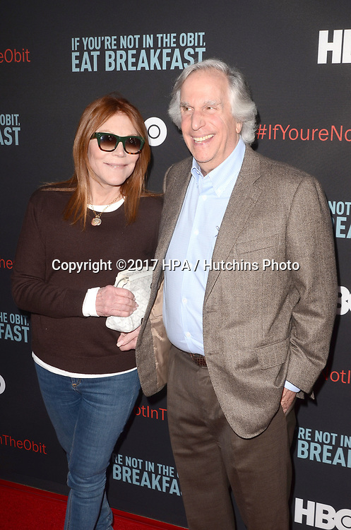 """LOS ANGELES - MAY 17:  Henry Winkler at the """"If You're Not In The Obit, Eat Breakfast"""" Premiere at the Samuel Goldwyn Theater on May 17, 2017 in Beverly Hills, CA"""