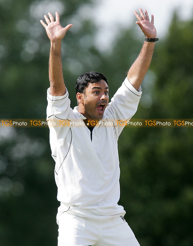 S Khan of Orsett - Shenfield CC vs Orsett CC - Essex Cricket League - 07/07/07 - MANDATORY CREDIT: Gavin Ellis/TGSPHOTO - SELF-BILLING APPLIES WHERE APPROPRIATE. NO UNPAID USE -  Tel: 0845 0946026