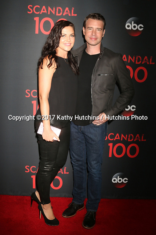 """LOS ANGELES - APR 8:  Marika Dominczyk, Scott Foley at the """"Scandal"""" 100th Show Party at Fig & Olive Resturant on April 8, 2017 in West Hollywood, CA"""