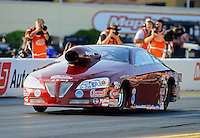 Oct. 5, 2012; Mohnton, PA, USA: NHRA pro stock driver Warren Johnson during qualifying for the Auto Plus Nationals at Maple Grove Raceway. Mandatory Credit: Mark J. Rebilas-