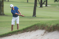 NWA Democrat-Gazette/J.T. WAMPLER Jackson Marseilles of Harrison makes a chip shot on hole four Wednesday Aug. 5, 2015 at the Springdale Bulldog Invitational at the Springdale Country Club.
