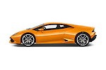 Car Driver side profile view of a 2015 Lamborghini Huracan LP 6104 2 Door Coupe Side View