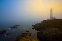 Afternoon fog, Pigeon Point Lighthouse, Pescadero Point, San Mateo County coast, California