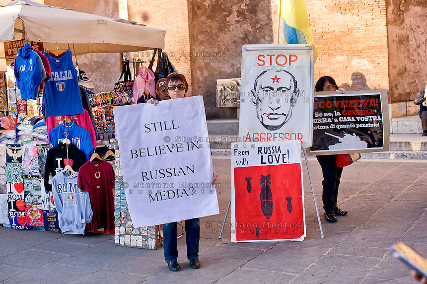 Roma 20 Novembre 2014<br /> Manifestazione contro l&rsquo;aggressione della Russia in Ucraina e per onorare le vittime di guerra in Ucraina e per il ritiro immediato dell'esercito russo e delle forze speciali dal territorio ucraino al Colosseo<br /> Rome November 20, 2014<br /> Demonstration against the aggression of Russia in Ukraine and to honor the victims of the war in Ukraine and for the immediate withdrawal of the Russian army and special forces from the territory of Ukraine to Colosseum.