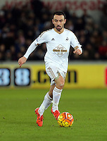 Leon Britton of Swansea during the Barclays Premier League match between Swansea City and Watford at the Liberty Stadium, Swansea on January 18 2016