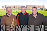 Pictured at the Dr Crokes match in Portlaoise on Saturday, from left: Tom Lyne, Sean McCarthy and Brian O'Leary.