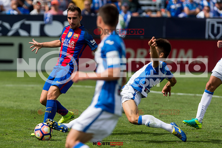 FC Barcelona's Paco Alcacer during the match of La Liga between Club Deportivo Leganes and Futbol Club Barcelona at Butarque Estadium in Leganes. September 17, 2016. (ALTERPHOTOS/Rodrigo Jimenez) /NORTEPHOTO