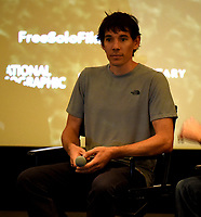 "WEST HOLLYWOOD - NOVEMBER 11: Alex Honnold attends a screening of National Geographic's ""Free Solo"" at Pacific Design Center on November 11, 2018 in West Hollywood, California. (Photo by Frank Micelotta/National Geographic/PictureGroup)"