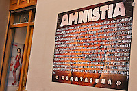 Europe/Espagne/Pays Basque/Guipuscoa/Goierri/Onati:<br /> Affiche réclamant l'amnistie pour les indépendantistes