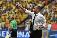 BARRANQUILLA - COLOMBIA -01-09-2016: Rafael Dudamel técnico de Ecuador durante partido contra de Colombia de la fecha 7 para la clasificación a la Copa Mundial de la FIFA Rusia 2018 jugado en el estadio Metropolitano Roberto Melendez en Barranquilla./  Venezuela coach of Venezuela during match against Colombia of the date 7 for the qualifier to FIFA World Cup Russia 2018 played at Metropolitan stadium Roberto Melendez in Barranquilla. Photo: VizzorImage / Gabriel Aponte / Cont