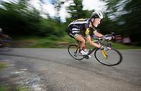 Steve Cummings (GBR/MTN-Qhubeka) descending the Col de Chaussy (C1/1533m/14.4km@6.3%)<br /> <br /> stage 19: St-Jean-de-Maurienne - La Toussuire / Les Sybelles   (138km)<br /> Tour de France 2015