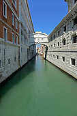 The Bridge of Sighs, which was built in around 1600 to serve as a passageway between the Palazzo Ducale and the prison, in Venice, Italy on April 15, 2013.  The bridge spans the Rio Del Palazzo, just a short distance from the Grand Canal. It earned its name from the sighs of prisoners being led to trial or to jail after their conviction..Credit: Ron Sachs / CNP