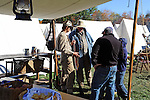 Civil War Reenactment Confederate Camp Soldiers and Tents