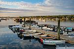 Mount Desert Island, Maine:<br /> Southwest Harbor boats at sunrise