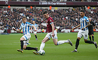 West Ham United's Declan Rice<br /> <br /> Photographer Rob Newell/CameraSport<br /> <br /> The Premier League - West Ham United v Huddersfield Town - Saturday 16th March 2019 - London Stadium - London<br /> <br /> World Copyright © 2019 CameraSport. All rights reserved. 43 Linden Ave. Countesthorpe. Leicester. England. LE8 5PG - Tel: +44 (0) 116 277 4147 - admin@camerasport.com - www.camerasport.com