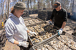 Lynne Fox & James Ward Sorting Oyster Trays