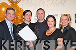 HONEYMOON DRAW: Getting ready to pick the winner of the Killarney Heights Hotel 'Honeymoon to South Africa' draw in the hotel on Saturday night were l-r: Tom O'Mahony, Colette O'Riordan, Mike Looney, Noreen O'Leary and Joeleen O'Malley.   Copyright Kerry's Eye 2008