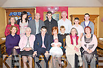 PINK BABY: Proud parents Kevin Curley and Sinead Casey, Spa Road of little Molly who was Christened at St John's Church, Tralee by Fr Michael O'Leary and celebrated afterwards with family and friends at Stokers Lodge restaurant and bar on Saturday seated l-r: Patricia Murray, Mary Murray, Kevin Curley, Molly Curley, Sinead Casey, Chrissie Murphy and Catherine Casey. Back l-r: Monica Neilan, Niamh, Paul and James Curley, Gerard Casey, Ben Hussey, Cian and Sean Casey..FAMILY FUN DAY: Enjoying a great time at the Kerry County Childcare Committee Family Fun Day in the Meadowlands Hotel on Sunday..