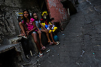 Brazilian children take part in the Carnival parade in the favela of Rocinha, Rio de Janeiro, Brazil, 20 February 2012. Rocinha, the largest shanty town in Brazil and one of the most developed in Latin America, has its own samba school called GRES Academicos da Rocinha. The Rocinha samba school is very loyal to its neighborhood. Throughout the year, the entire community actively participate in rehearsals, culture events and parades related to the carnival.