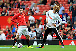 Wayne Rooney of Manchester United smiles before kick off with Marouane Fellaini  during the Premier League match at Old Trafford Stadium, Manchester. Picture date: September 24th, 2016. Pic Sportimage