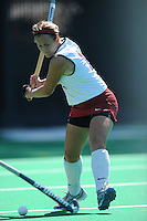 Stanford, CA - SEPTEMBER 27:  Defender Jennifer Luther #11 of the Stanford Cardinal during Stanford's 7-0 win against the Pacific Tigers on September 27, 2008 at the Varsity Field Hockey Turf in Stanford, California.