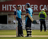 Cricket - CB40 Surrey Lions V Scottish Saltires at the Kia Oval - London - Saltires batsmen Josh Davey (Middlesex - who top-scored with his Scotland best tally of 50) and Calvin Burnett (Arbroath - who made 31 on his debut) - Picture by Donald MacLeod - 01.05.11 - 07702 319 738 - www.donald-macleod.com - clanmacleod@btinternet.com