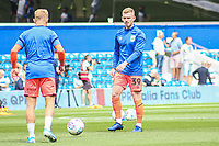 Huddersfield Town's Lewis O'Brien during the pre-match warm-up <br /> <br /> Luke Brennan/CameraSport<br /> <br /> The EFL Sky Bet Championship - Queens Park Rangers v Huddersfield Town - Saturday 10th August 2019 - Loftus Road - London<br /> <br /> World Copyright © 2019 CameraSport. All rights reserved. 43 Linden Ave. Countesthorpe. Leicester. England. LE8 5PG - Tel: +44 (0) 116 277 4147 - admin@camerasport.com - www.camerasport.com