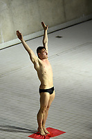 Great Britain's Jack Laugher competes in the men's 3m Springboard final <br /> <br /> Photographer Hannah Fountain/CameraSport<br /> <br /> FINA/CNSG Diving World Series 2019 - Day 2 - Saturday 18th May 2019 - London Aquatics Centre - Queen Elizabeth Olympic Park - London<br /> <br /> World Copyright © 2019 CameraSport. All rights reserved. 43 Linden Ave. Countesthorpe. Leicester. England. LE8 5PG - Tel: +44 (0) 116 277 4147 - admin@camerasport.com - www.camerasport.com