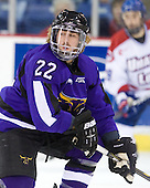 Defenseman Kurt Davis (Mankato - 22) is the Mavericks' leading scorer. - The visiting Minnesota State University-Mankato Mavericks defeated the University of Massachusetts-Lowell River Hawks 3-2 on Saturday, November 27, 2010, at Tsongas Arena in Lowell, Massachusetts.