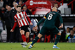 Oliver Norwood of Sheffield United passes the ball past Jonjo Shelvey of Newcastle United during the Premier League match at Bramall Lane, Sheffield. Picture date: 5th December 2019. Picture credit should read: James Wilson/Sportimage
