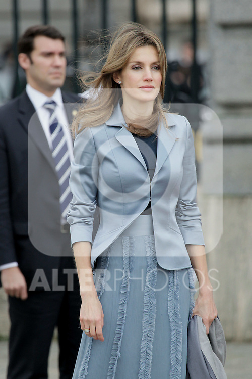 Military Christmas at Madrid Royal Palace. Princess Letizia...Photo: MAC / ALFAQUI