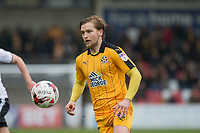 Luke Berry of Cambridge United during the Sky Bet League 2 match between Cheltenham Town and Cambridge United at the LCI Stadium, Cheltenham, England on 18 March 2017. Photo by Mark  Hawkins / PRiME Media Images.