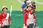 Saori Nagamine (JPN),<br /> AUGUST 7 2016 - Archery : <br /> Women's teaml final Round Quarter finals<br /> at Sambodromo <br /> during the Rio 2016 Olympic Games in Rio de Janeiro, Brazil. <br /> (Photo by Yusuke Nakanishi/AFLO SPORT)