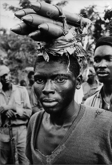 Ibo soldier during Biafra civil war, Nigeria, April 1968